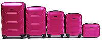 Комплект пластиковых чемоданов Wings 147-5 на 4 колесах