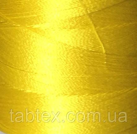 Нитка шелк для машинной вышивки embroidery 120den. №В-127(желтолимонный.)(МН) 3000 ярд