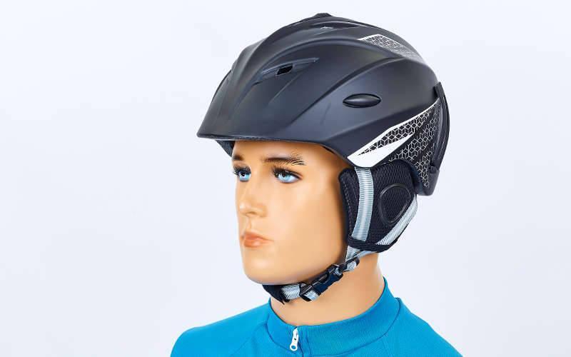 Шлем горнолыжный с механизмом регулировки MOON RT-ZEL-MS-6287-BK