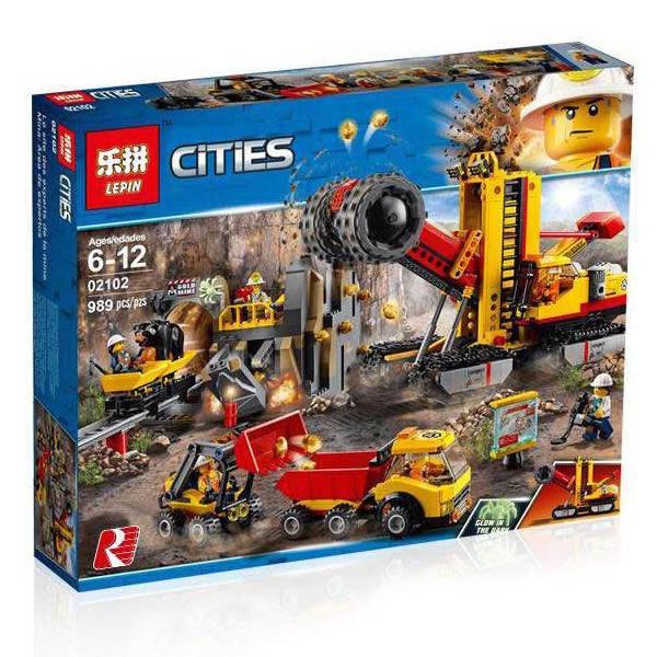 Конструктор Lepin 02102 (Lego City 60188 Mining Experts S) Шахта (989 дет.)