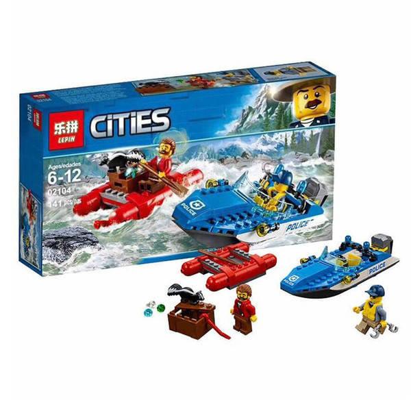Конструктор Lepin 02104 (Lego City 60176 Wild River Escape) Погоня по горной реке (141 дет.)