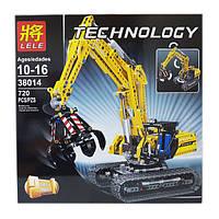 Конструктор Lele Technology 38014 (LEGO Technic 42006) Technic Экскаватор с мотором (720 дет.)