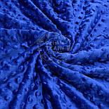 Відріз плюшу minky М-69, розмір 40*40 см, синій колір ультрамарин, фото 2