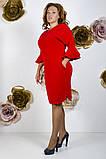 Модное молодежное платье ткань креп костюмка в  размерах 50-56, фото 2