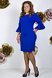 Модное молодежное платье ткань креп костюмка в  размерах 50-56, фото 4