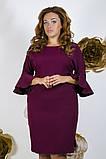 Модное молодежное платье ткань креп костюмка в  размерах 50-56, фото 5
