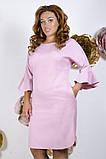 Модное молодежное платье ткань креп костюмка в  размерах 50-56, фото 7