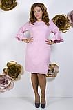 Модное молодежное платье ткань креп костюмка в  размерах 50-56, фото 8