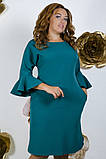 Модное молодежное платье ткань креп костюмка в  размерах 50-56, фото 9