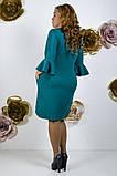 Модное молодежное платье ткань креп костюмка в  размерах 50-56, фото 10