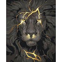 """Картина по номерам. Животные, птицы """"Огненный свет"""" KHO4078"""