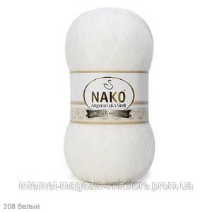 Пряжа Nako Angora Luks Simli Білий