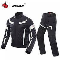 Мотокостюм, мотокуртка, мотоштаны, летний мотокостюм DUHAN