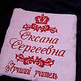 Махровое полотенце с любой вышивкой, фото 3