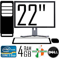 """Компьютер DELL 780 CORE 2 DUO 3.0GHZ E8400 + 22""""TFT Монитор"""