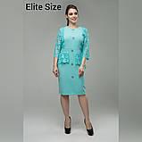 Нарядное женское платье костюмная ткань с гипюром раз. 48-56, фото 2