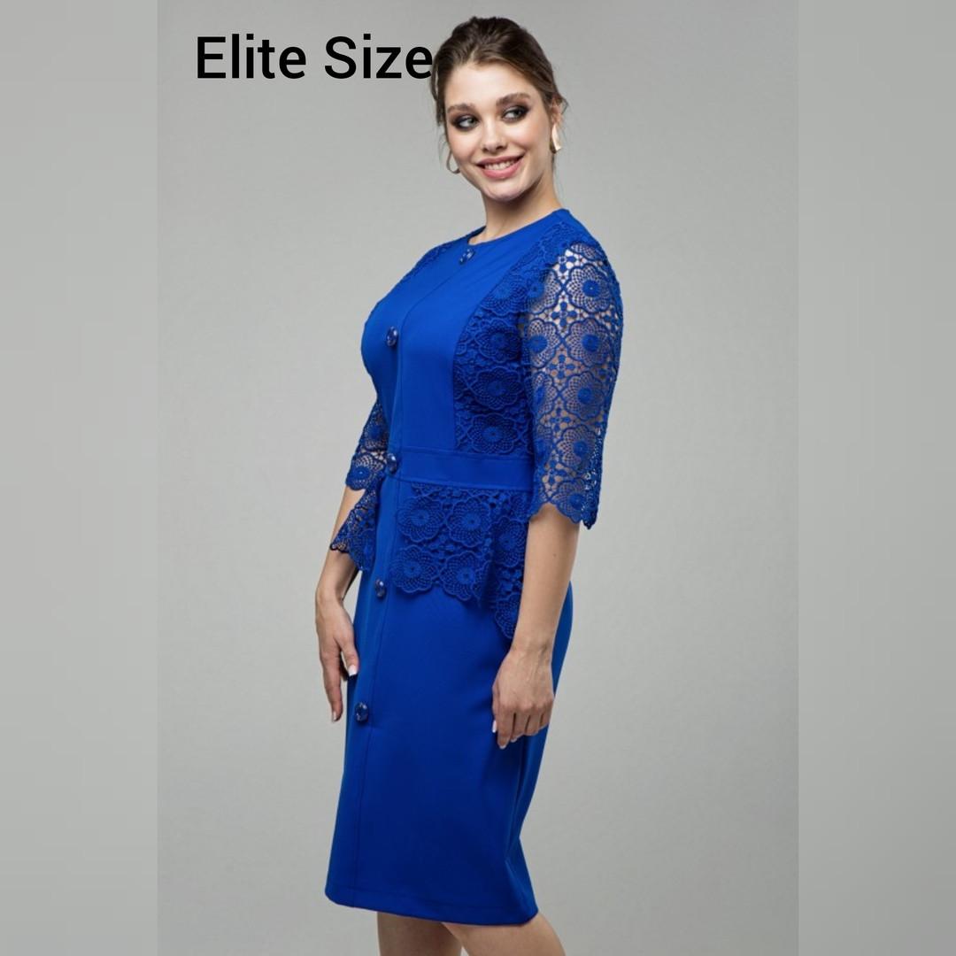 Нарядное женское платье костюмная ткань с гипюром раз. 48-56