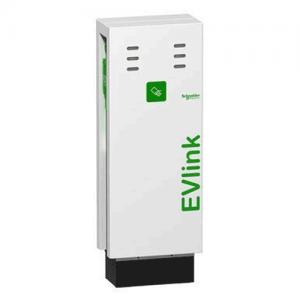 Зарядна станція наземна для паркінгу EVlink Parking 2хТ2 зі шторками 7.4 КВТ Schneider Electric, фото 2