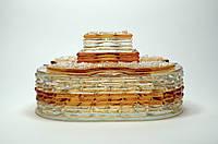 Шкатулка из стекла для украшений Золото фьюзинг