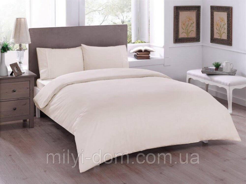 Набор постельного белья TAC Basic Cream (полуторный)
