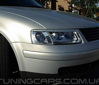 Накладки на фары (реснички) Volkswagen Passat B5 3B (98-00)