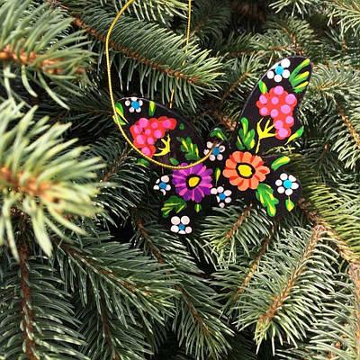"""Новарічна іграшка """"метелик"""""""
