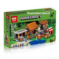 "Конструктор Lepin 18010 ""Деревня"" Майнкрафт, 1106 деталей. Аналог Lego Minecraft, фото 1"