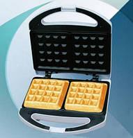 Вафельница для дома lsu-1214, приготовление вкусных бельгийских вафель, антипригарные формы, термостат, 750 вт