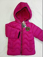 """Детская демисезонная куртка на девочку """"Волна"""" р. 2-5 лет малина"""