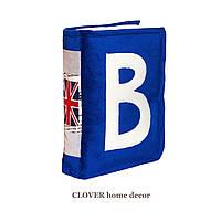 """Интерьерная декоративная подушка """"Книжка синяя"""""""