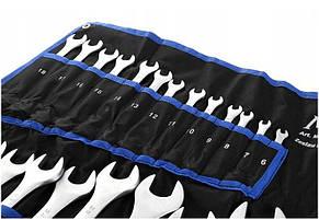Набор рожковых накидных ключей Mastiff 6-32 мм 25 ел., фото 2