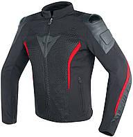 Мотокуртка DAINESE MIG LEATHER текстиль черный красный 54