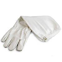 "Перчатки белые, с нарукавниками ""Witehand"", р-р XL"