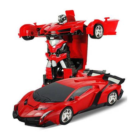 Машинка-робот-трансформер музыкальная светящаяся Super Car
