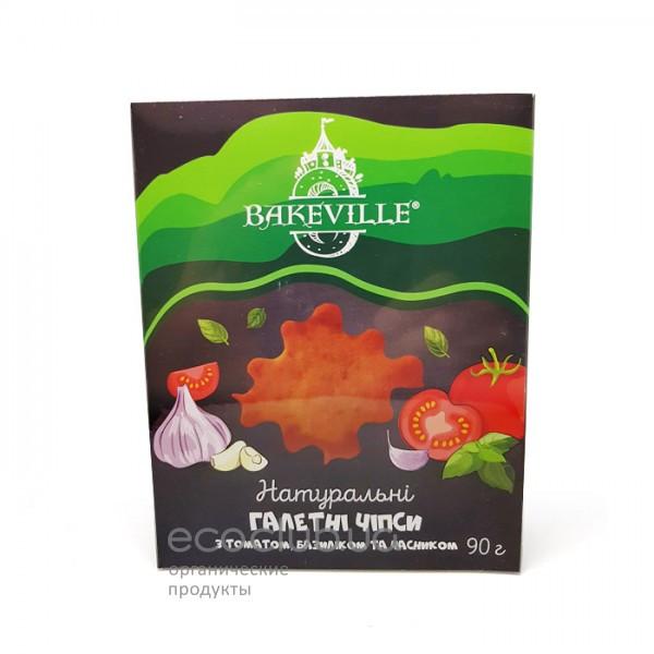Чипсы галетные с помидором, базиликом и чесноком Bakeville 90г