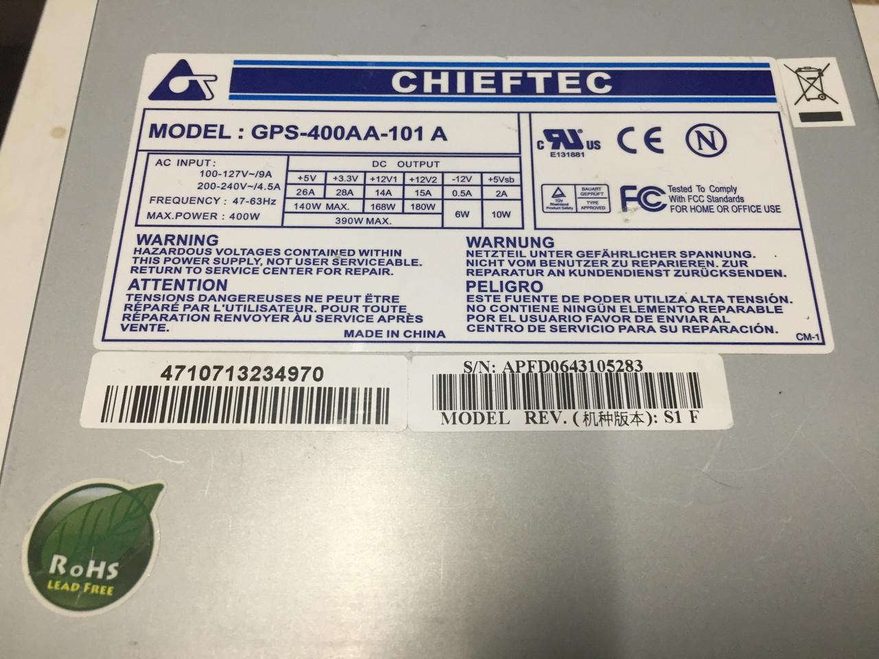 Блок питания для пк 400W Chieftec GPS-400AA-101A