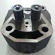 Головка цилиндра в сборе на мототрактор ZUBR 12л.с. форсунка Ø21мм, фото 2