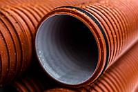 Гофрированные канализационные трубы SN16 ID Ø400 6000 мм `PRAGMA` (Pipelife)