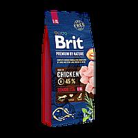 Сухой корм 15 кг для стареющих собак крупных и гигантских пород Брит Премиум / Senior L+XL Brit Premium