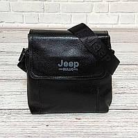 Мужская сумка через плечо Jeep. Черная. 21см х 19см / Кожа PU. 5541 black