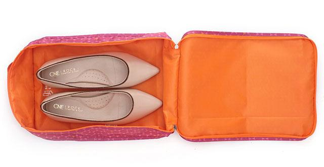 Органайзер для обуви в ромбики розовый
