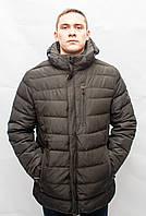 Мужской зимний пуховик парка куртка большых размеров батальон тёплая молодежная короткая