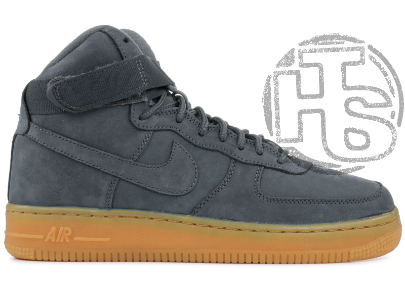 ab5d7d0b Мужские кроссовки Nike Air Force 1 High Gray Gum (с мехом) 749263-001