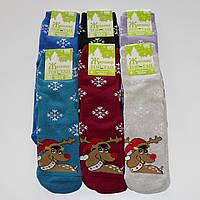 Женские махровые носки Топ-Тап - 11.50 грн./пара (олень в шапке), фото 1