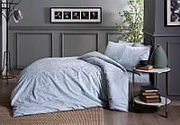 Набор постельного белья TAC FABIAN mint сатин (полуторный, простынь на резинке)