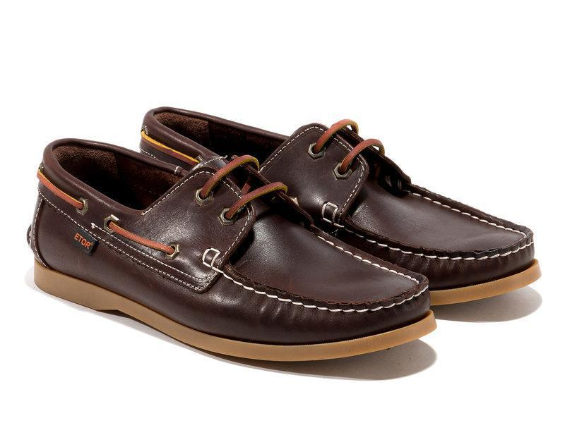 Топ-сайдеры Etor 8066-968-02 43 коричневые