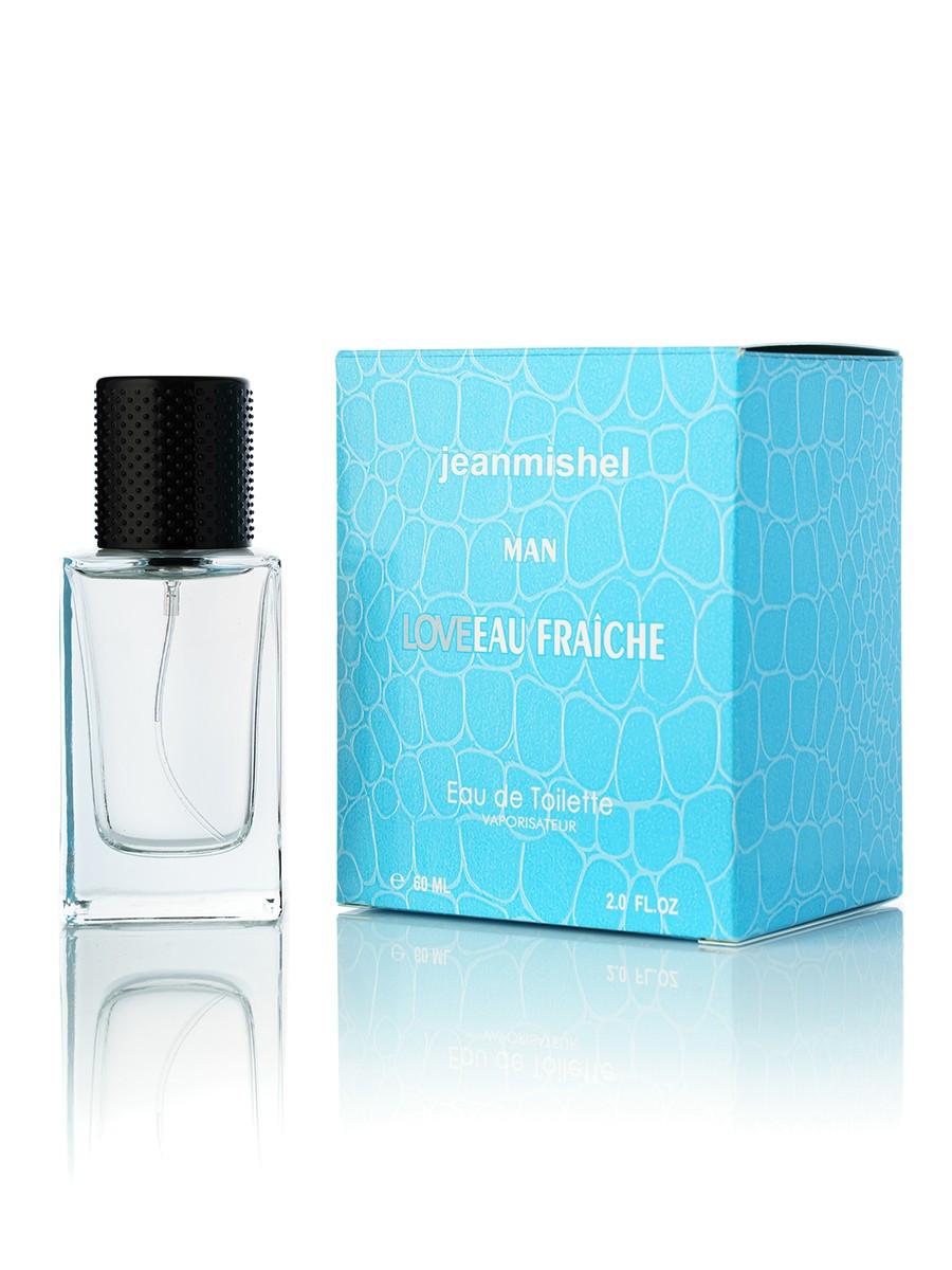 60 мл Мини-парфюм Jeanmishel Love Eau Fraiche Man (м) 73 кубик