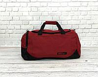 9411b4458132 Спортивная сумка найк, Nike. Дорожная. Для тренировок. Бордовая с черным