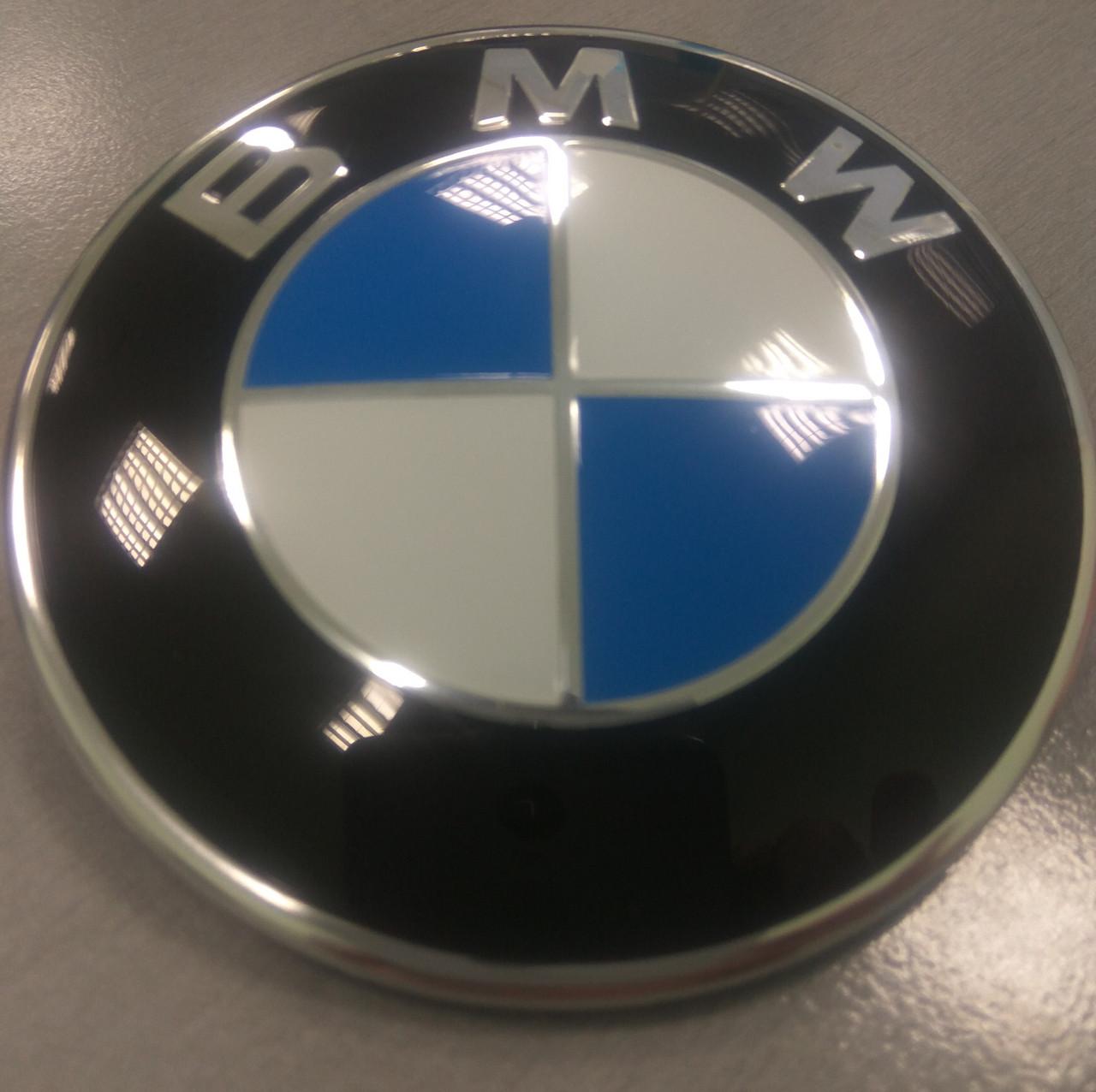 Значок BMW 82мм и 74мм. Эмблема БМВ на капот и багажник 51148132375