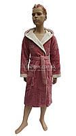 Подростковый халат для девочки Bellezza by Ebru цвета чайной розы (бамбуковый) № 2036